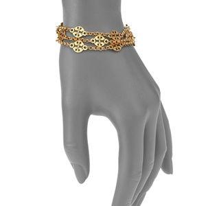 Tory Burch Jewelry - ■Tory Burch■ Gold Logo Multi Strand Bracelet